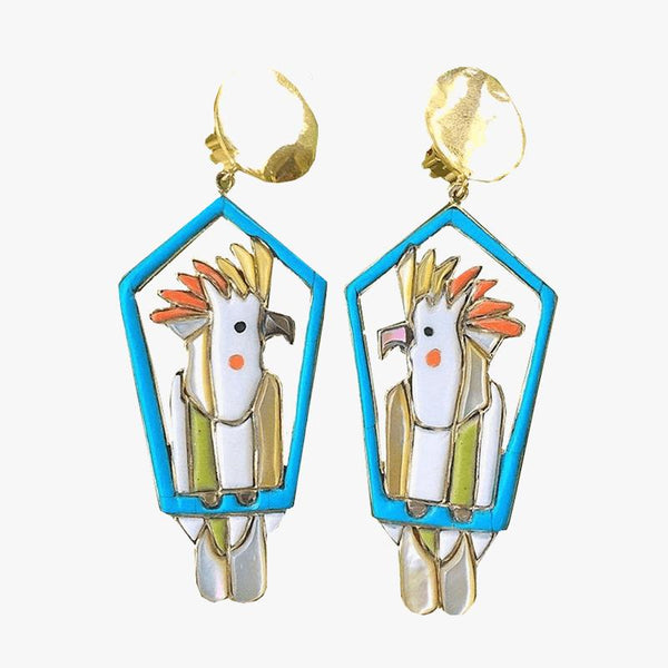 Cockatoo Coloured Earring - Villa Yasmine