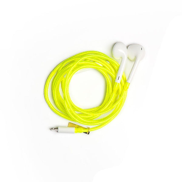 Neon Yellow Earphones - Villa Yasmine