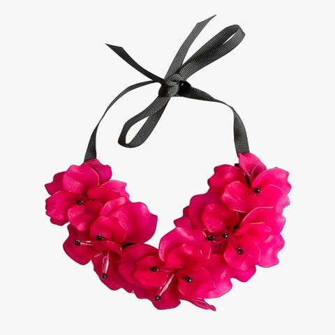 Flower Necklace Fuchsia - Villa Yasmine