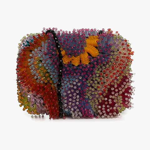 Coral Bag Fully Beaded - Villa Yasmine