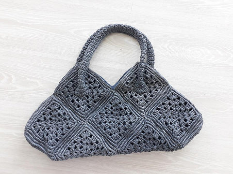 Straw Bags - Gray