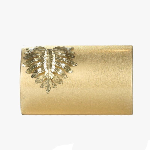 Gold Leaf Clutch - Villa Yasmine