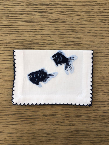 Fish cocktail napkins - Villa Yasmine