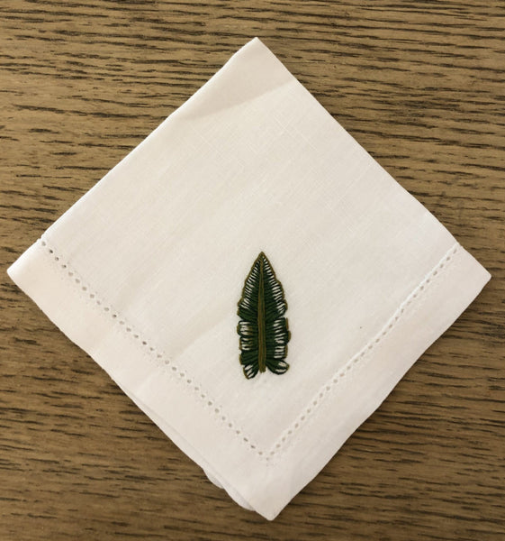 Palm Leaf Cocktail napkin - Villa Yasmine