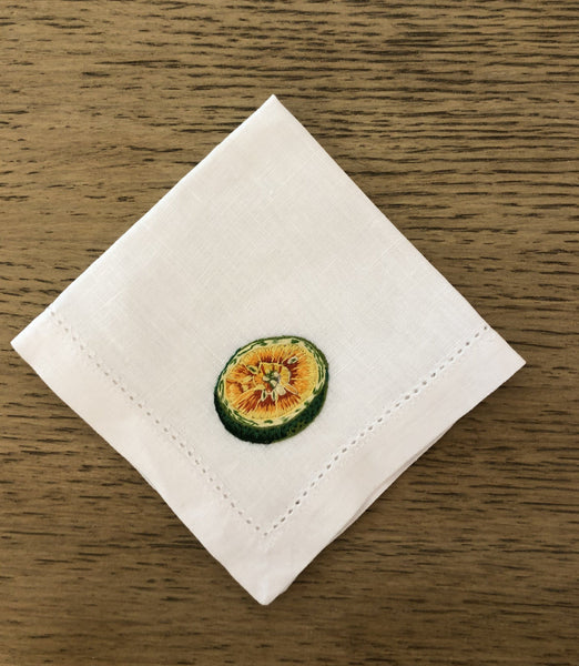 Tropical Green Orange Cocktail napkin - Villa Yasmine
