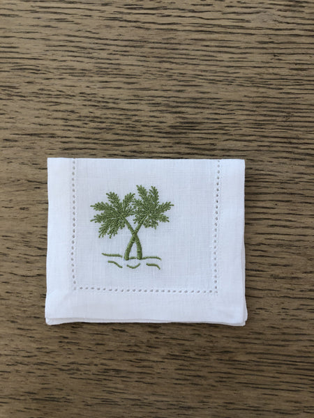 Palm tree cocktail napkins - Villa Yasmine