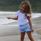 Sofia Flutter Blouse and Shorts Set - Villa Yasmine