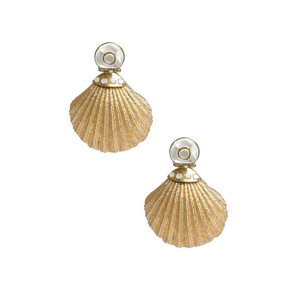 Gold Shell Earring