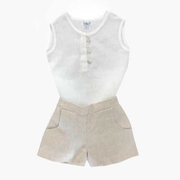 Linen Shirt and Short Set - Villa Yasmine