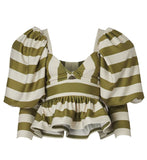 Malambo Top - Olive Stripes - Villa Yasmine