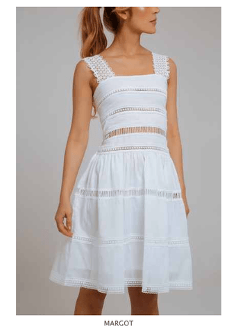 MARGOT LACE COTON DRESS 100% COTTON - Villa Yasmine