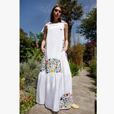 Martha Dress - Embroidered Multi - Villa Yasmine