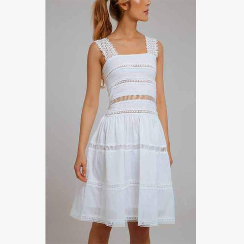 Maya Dress - White - Villa Yasmine