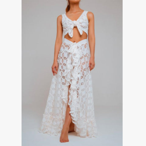 Noemi Two Piece Corded Lace Ivory - Villa Yasmine