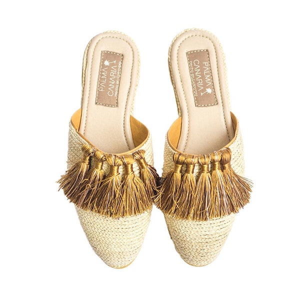 Slippers Gold - Villa Yasmine