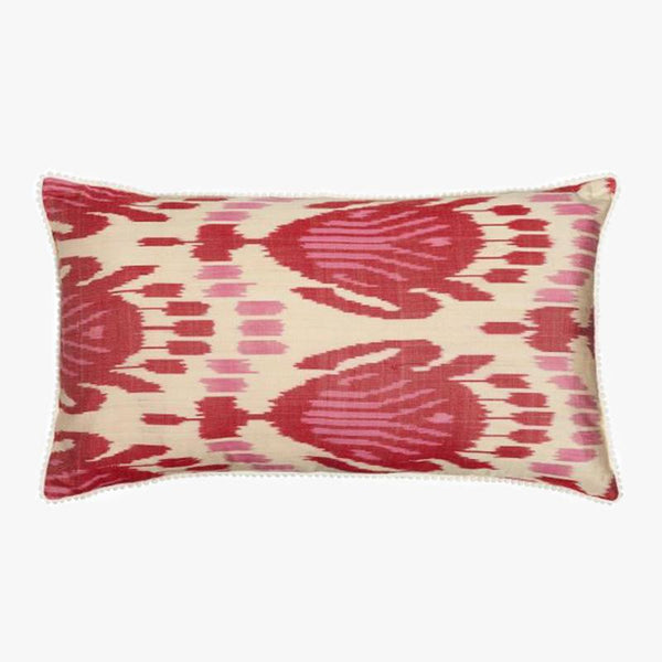 PINK AND RED RECTANGULAR CUSHION COVER - Villa Yasmine