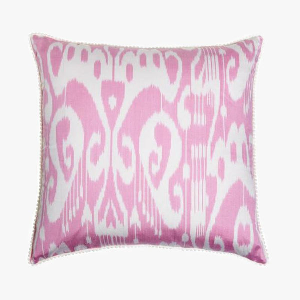 PINK SQUARE CUSHION COVER - Villa Yasmine