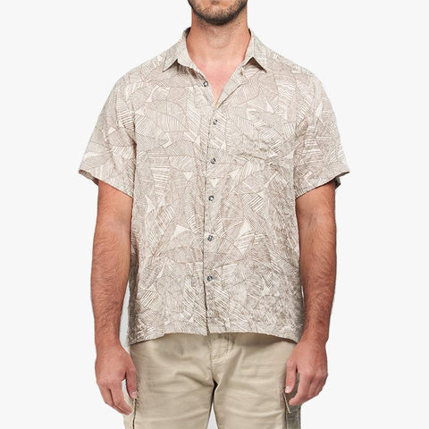Palms Shirt - Brown - Villa Yasmine