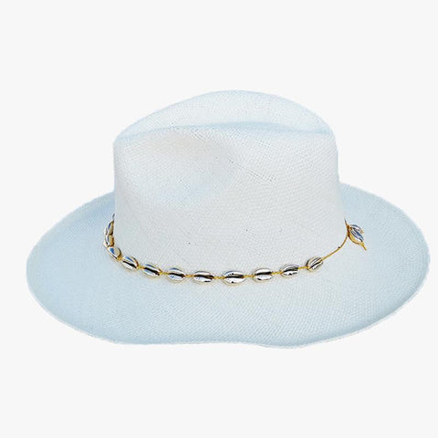 Seashell Hat - White - Villa Yasmine