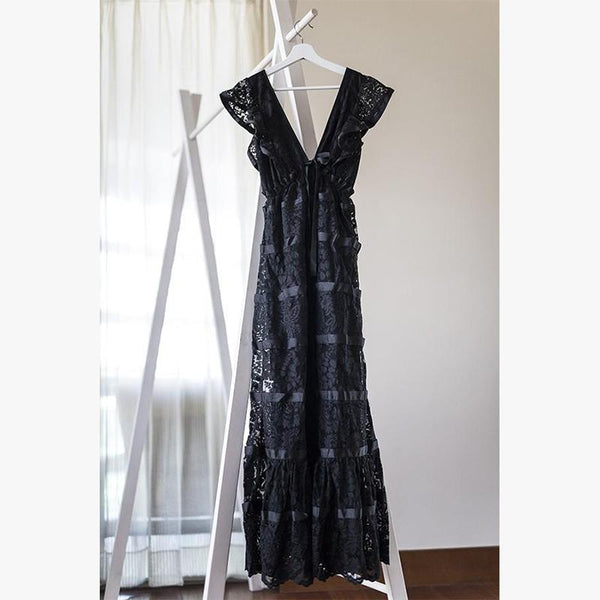 Santo Domingo Chantilly Lace Black - Villa Yasmine