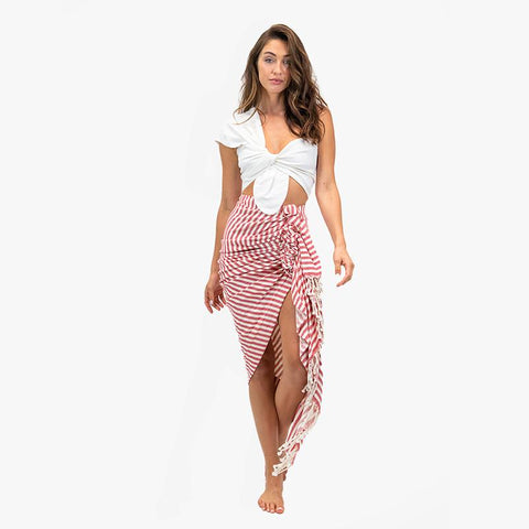 Tulum Skirt - Red - Villa Yasmine