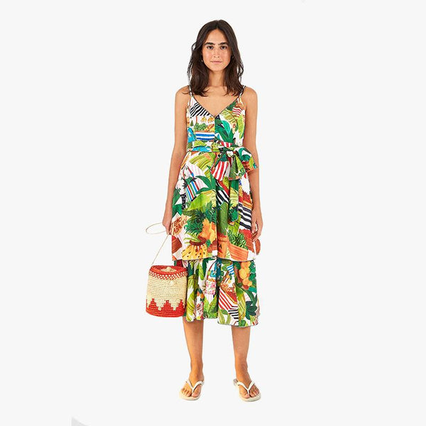 Tropical Fair Midi Dress - Villa Yasmine