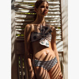 Baudo Bottom Black & White Stripes Black - Villa Yasmine