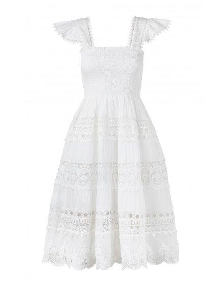 ARIANA COTTON LACE DRESS LACE - Villa Yasmine