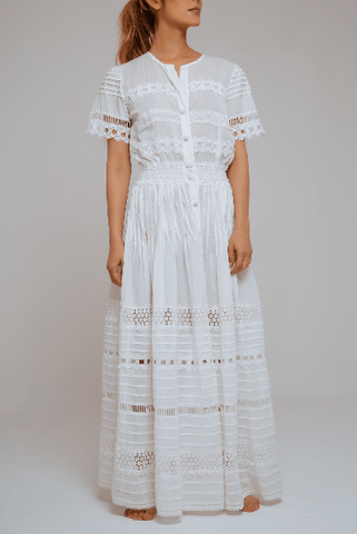 Camila Lace Cotton Long Dress