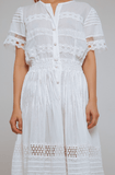 Camila Lace Cotton Long Dress - Villa Yasmine