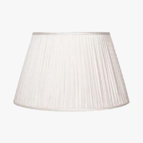 GATHERED SILK LAMPSHADE IN IVORY - Villa Yasmine