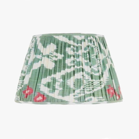 GREEN AND PINK SILK IKAT LAMPSHADES - Villa Yasmine