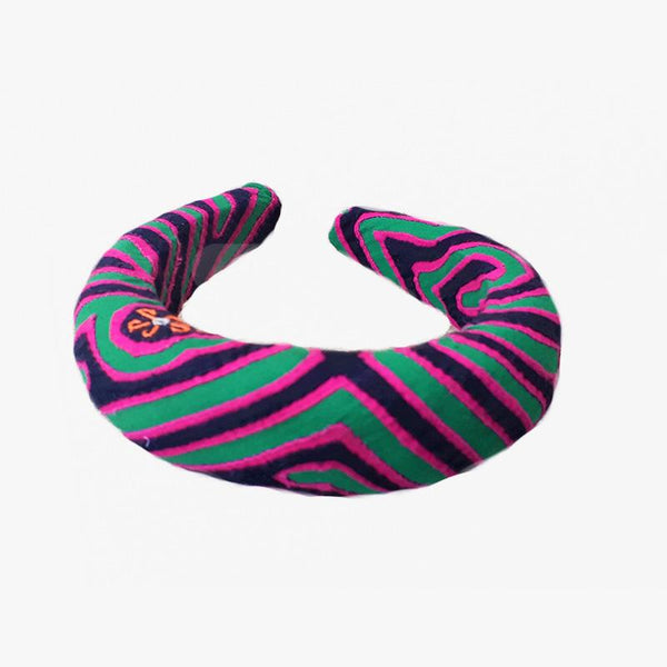 Mola Headbands - Green Black Fuchsia - Villa Yasmine