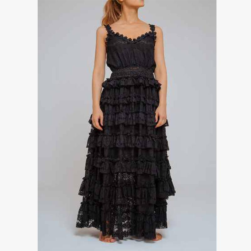 Puerto Aventura Lace Dress Black - Villa Yasmine