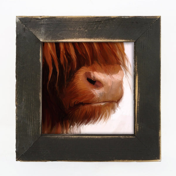 Highland Cow Face Small / Black