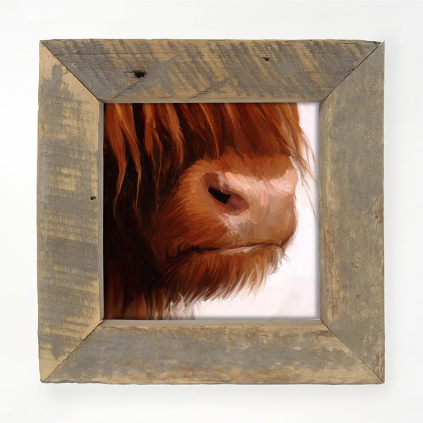 Highland Cow Face Small / Natural