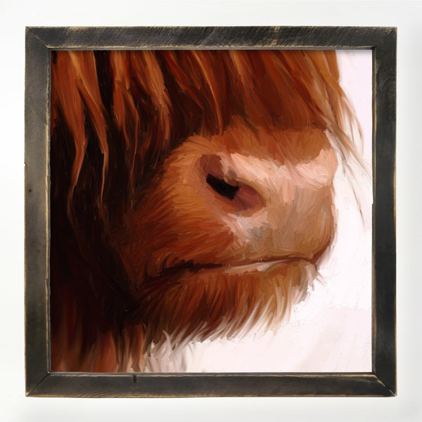 Highland Cow Face XL / Black