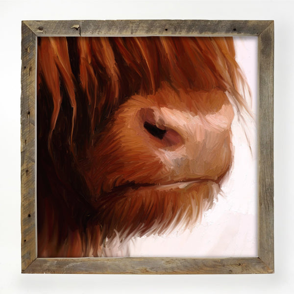 Highland Cow Face XL / Natural