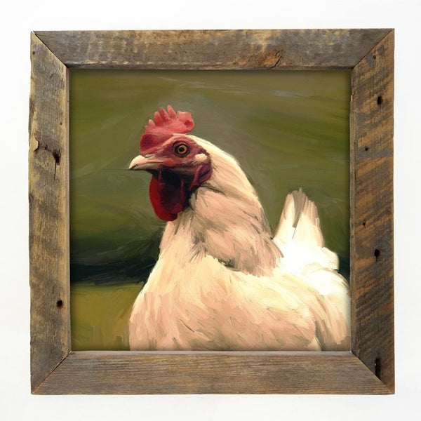 Leghorn Hen Large / Natural