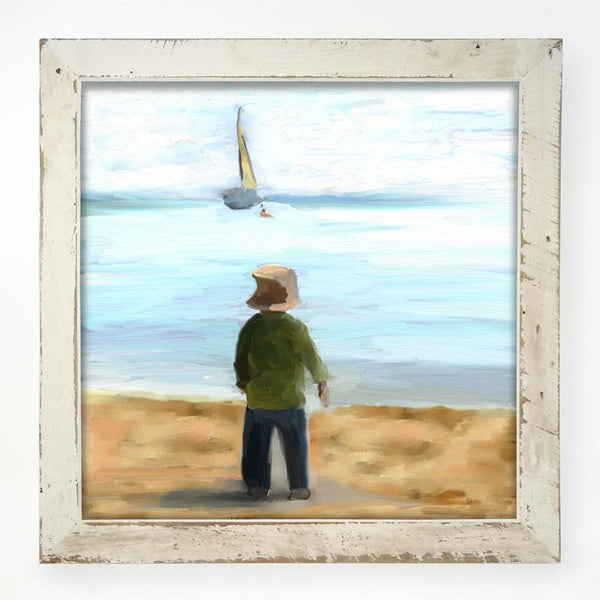 Boy on the Beach XL / White
