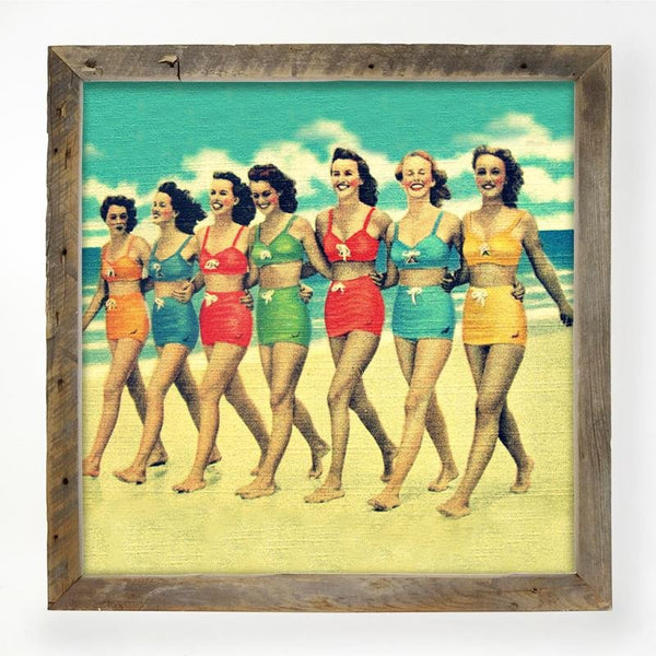 Vintage - Friends on the Beach XL / Natural