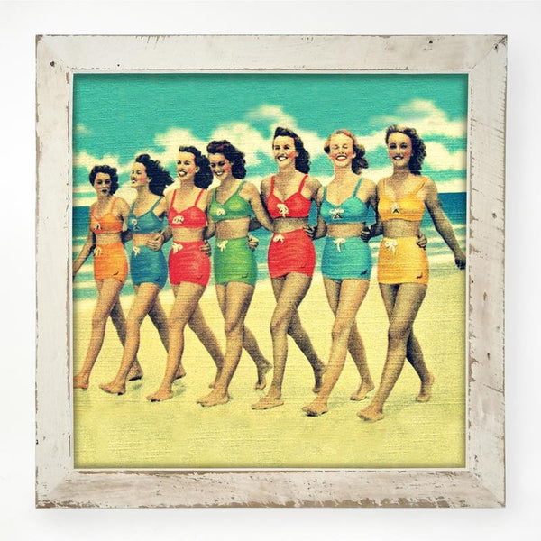 Vintage - Friends on the Beach XL / White