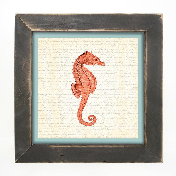 Sea Horse - Coral Large / Black