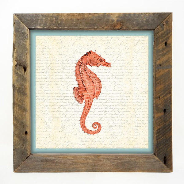 Sea Horse - Coral Large / Natural
