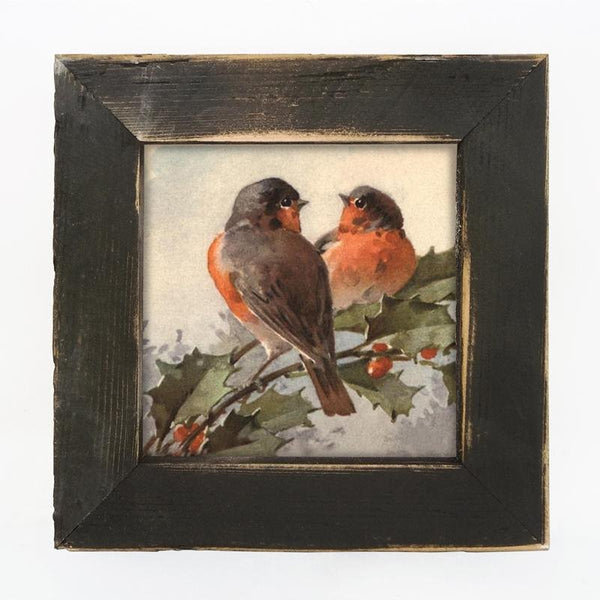 Two Robins Small / Black