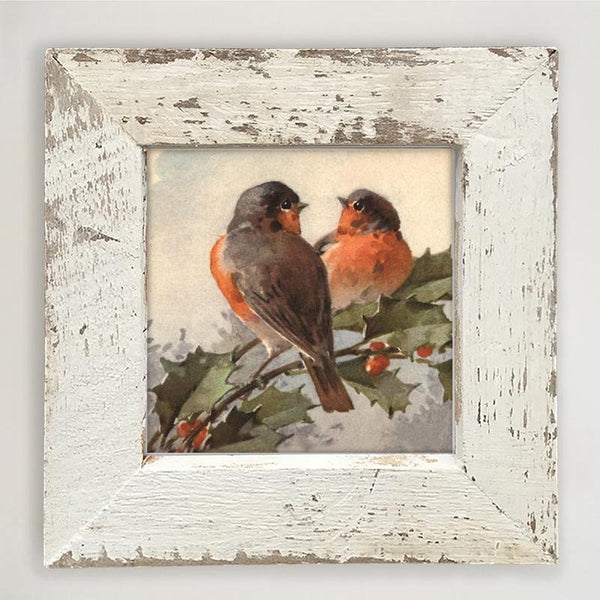 Two Robins Small / White