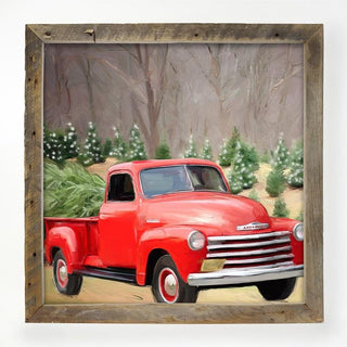 Chevy truck with trees XL / White