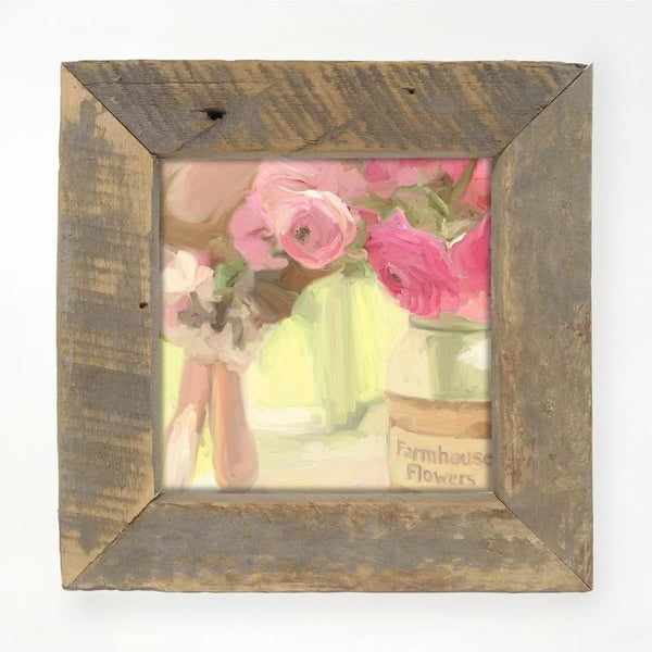 Pink Farmhouse Flowers Small / Natural