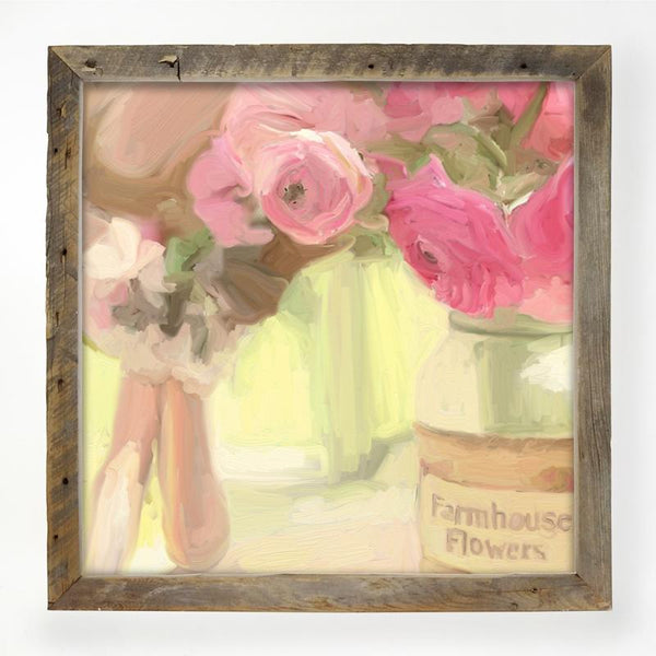 Pink Farmhouse Flowers XL / Natural