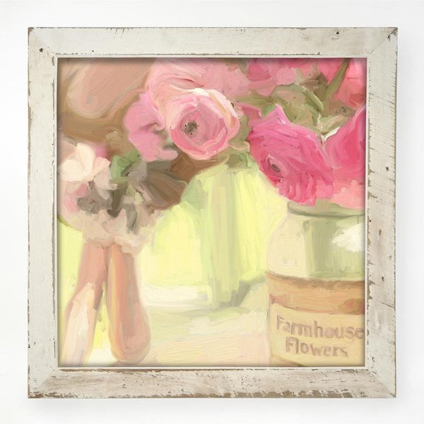 Pink Farmhouse Flowers XL / White